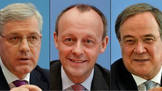Candidates for the leadership of Germany's Christian Democratic Union (CDU) party (L to R) Norbert Roettgen, Friedrich Merz and Armin Laschet.