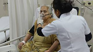 Covid-19 tedavisi gören bir hasta