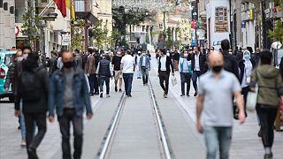 İstanbul'da bir sokak görüntüsü