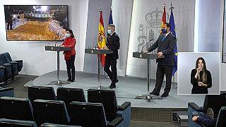 Rueda de prensa de los ministros de Interior, Transportes y Defensa de España sobre la ola de frío
