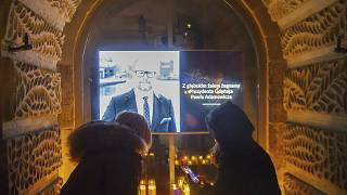 People place candles as they mourn the mayor of Gdansk, Pawel Adamowicz.