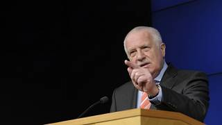 Vaclav Klaus has previously addresses crowds at anti-restriction demonstrations in Prague.