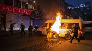 Волнения в Брюсселе: 100 человек задержано