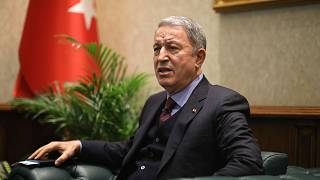 Milli Savunma Bakanı Hulusi Akar.
