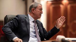 Turkey's Defense Minister Hulusi Akar