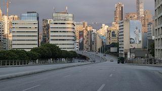 وسط بيروت بعد اعلان الاغلاق الشامل