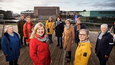 The ladies taking on Finnish politicians.