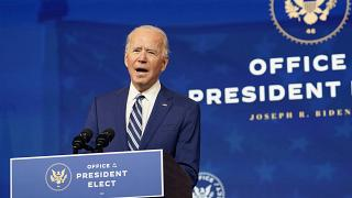 President-elect Joe Biden speaks during an event to announce his choice of retired Army Gen. Lloyd Austin to be secretary of defence.