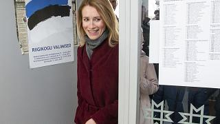 Kaja Kallas bei den Wahlen 2019.