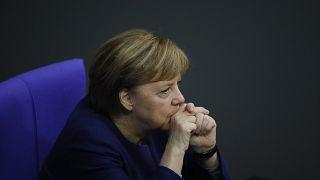 Angela Merkel au Bundestag à Berlin, le 8 décembre 2020