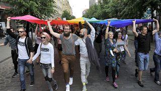 Акция в поддержку ЛГБТ в Риге, 2014 год