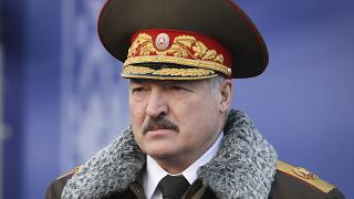 Belarusian President Alexander Lukashenko seen as he visits the Belarusian Interior Ministry special forces base in Minsk, Belarus, Wednesday, Dec. 30, 2020.