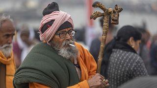 هتدي يشارك في مهرجان ماكار سنكرانتي في الهند. 2021/01/14