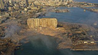 Patlamananın ardından Beyrut Limanı