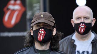 Fans mit Rolling Stones-Masken in London