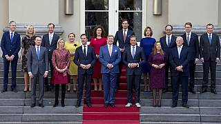 The cabinet of the last Dutch government, pictured here in 2017.