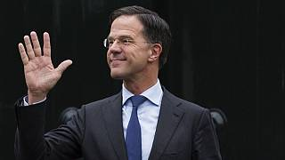 In this March 15, 2019, file photo, Dutch Prime Minister Mark Rutte waves as he waits for European Council President Donald Tusk