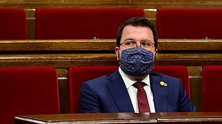 El presidente de la Generalitat en funciones Pere Aragonés García el pasado septiembre