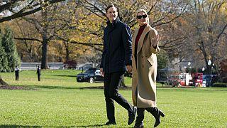 Ivanka Trump und Jared Kushner auf dem Südrasen des Weißen Hauses, 29.11.2020