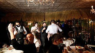 Un ristorante milanese aperto a cena la sera del 15/01/21