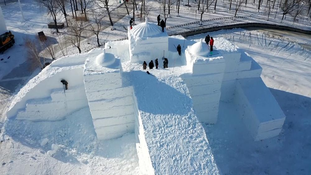 China's famous Ice Town sees annual sculpture festival scaled back amid pandemic