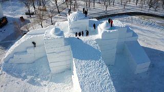 Snow sculpture expo