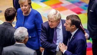 Macron, Merkel ve Johnson