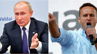 Rusya Devlet Başkanı Vladimir Putin (solda), bazı çevrelerce en büyük rakibi Aleksey Navalny'nin (sağda) zehirleme emrini veren isim olduğu iddia ediliyor.