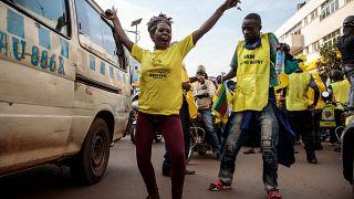 Ugandans celebrate Museveni's win