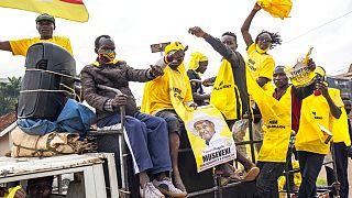 Ουγκάντα: Πανηγυρισμοί των υποστηρικτών του Μουσεβένι