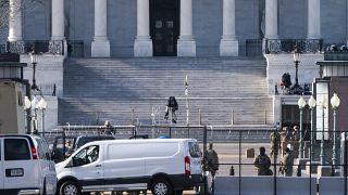 إجراءات امنية مشددة أمام مبنى الكابيتول