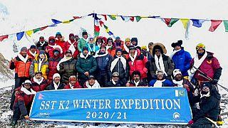 Aufstieg auf K2