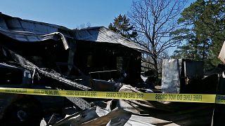 ABD'de yanan bir ev, arşiv