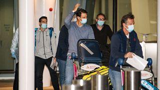 Spain's Rafael Nadal arrives at Adelaide Airport ahead of the Australian Open