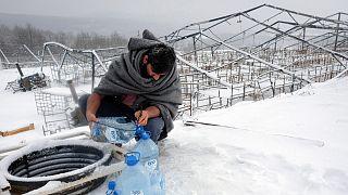 وضعية المهاجرين في مخيمات اللجوء في البوسنة