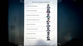 Boletim de voto para as eleições presidenciais
