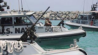 قایقهای تندرو نیروی دریایی آمریکا حاضر در خلیج فارس