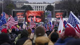 Trump supporters participate in a rally in Washington DC on Jan 6, 2020.