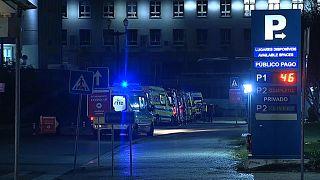 Até em Santa Maria, o maior hospital português, as ambulâncias tiveram de esperar