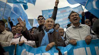 مظاهرة للأويغور في بلجيكا