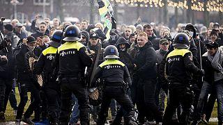 Protest gegen den Corona-Lockdown in Amsterdam