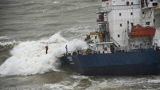 کشتی آروین اوکراین در دریای سیاه غرق شد