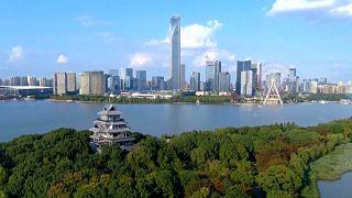 Imagen aérea de la provincia de Jiangsu