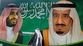 لافتة سعودية في الرياض