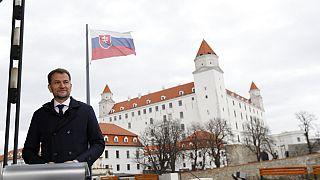 Der slowakische Ministerpräsident Igor Matovic nach der slowakischen Parlamentswahl in Bratislava, 01.03.2020