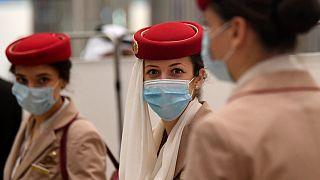 عاملات بطيران الإمارات