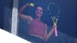 Joueuse de tennis placée à l'isolement dans un hôtel de Melbourne, à quelques jours du début de l'Open d'Australie, le 18/01/2021