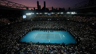 Archivbild des Centre Court in Melbourne