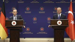 وزير الخارجية الألماني هايكو ماس ونظيره التركي مولود تشاوش أوغلو