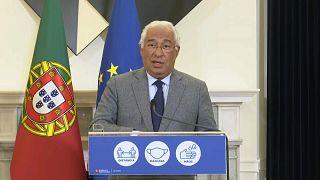 Primeiro-ministro português em conferência de imprensa